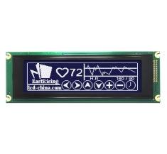 5.2 inch Graphic LCD 240x64 Module Display,T6963,White on Black ERM24064DNS-1